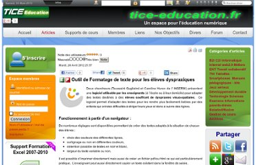 http://www.tice-education.fr/index.php?option=com_content&view=article&id=616:outil-de-formatage-de-texte-pour-les-eleves-dyspraxiques&catid=52:internetweb2&Itemid=251