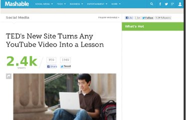http://mashable.com/2012/04/25/teds-youtube-video-lesson/
