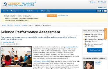 http://www.lessonplanet.com/article/elementary-science/science-performance-assessment