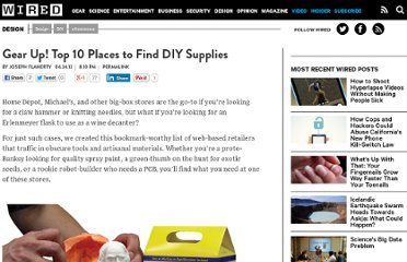 http://www.wired.com/design/2012/04/top-10-places-to-find-diy-supplies/