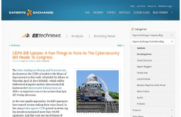 http://blog.experts-exchange.com/ee-tech-news/cispa-bill-update-a-few-things-to-note-as-the-cybersecurity-bill-heads-to-congress/