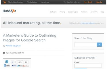 http://blog.hubspot.com/blog/tabid/6307/bid/32567/A-Marketer-s-Guide-to-Optimizing-Images-for-Google-Search.aspx