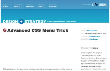 http://3.7designs.co/blog/2007/12/advanced-css-menu-trick/