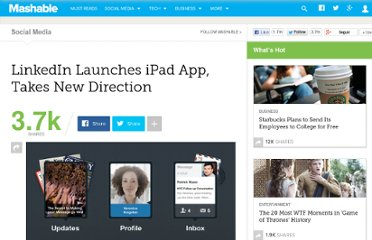 http://mashable.com/2012/04/25/linkedin-ipad-app/