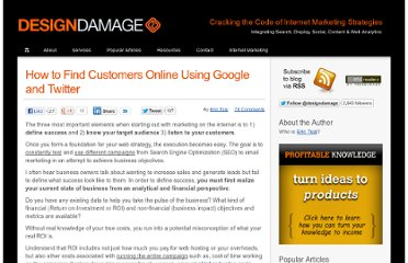 http://designdamage.com/blog/index.php/201004/how-to-use-google-and-twitter-to-find-your-customers/