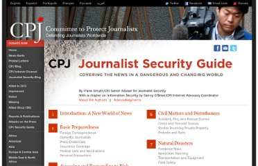 http://cpj.org/reports/2012/04/journalist-security-guide.php
