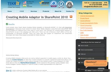 http://www.tekritisoftware.com/sharepoint-development-mobile-adapter