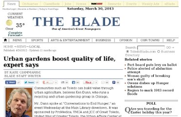 http://www.toledoblade.com/local/2012/04/26/Urban-gardens-boost-quality-of-life-expert-says.html
