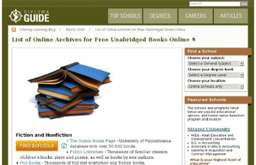 http://diplomaguide.com/articles/List_of_Online_Archives_for_Free_Unabridged_Books_Online.html