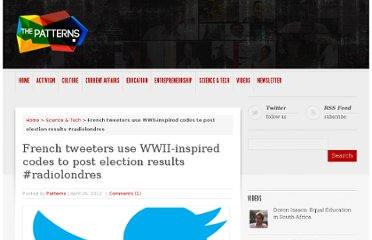 http://thepatterns.info/french-tweeters-use-wwii-inspired-codes-to-post-election-results-radiolondres/