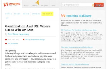 http://uxdesign.smashingmagazine.com/2012/04/26/gamification-ux-users-win-lose/