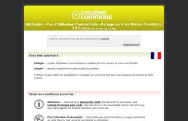 http://creativecommons.org/licenses/by-nc-sa/2.0/fr/
