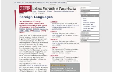 http://www.iup.edu/foreignlanguages/default.aspx