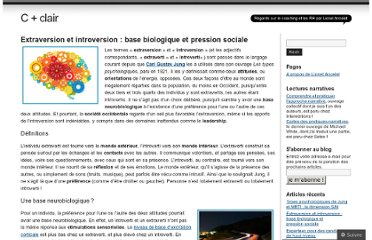 http://cplusclair.wordpress.com/2012/04/26/extraversion-introversion-pression-sociale/