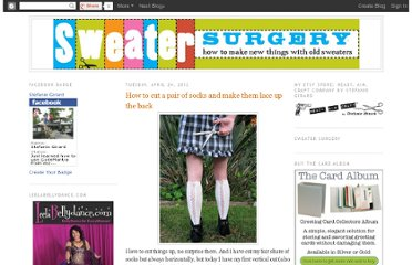 http://sweatersurgery.blogspot.com/2012/04/how-to-cut-pair-of-socks-and-make-them.html