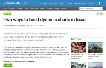 http://www.techrepublic.com/blog/msoffice/two-ways-to-build-dynamic-charts-in-excel/7836