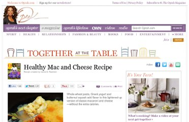 http://www.oprah.com/food/Healthy-Mac-and-Cheese-Recipe