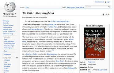 http://en.wikipedia.org/wiki/To_Kill_a_Mockingbird