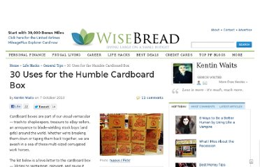http://www.wisebread.com/30-uses-for-the-humble-cardboard-box
