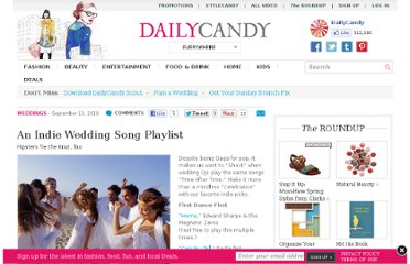http://www.dailycandy.com/everywhere/article/88435/Indie-Wedding-Songs-Weddding-Reception-Songs