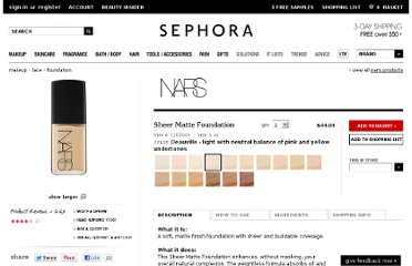 http://www.sephora.com/sheer-matte-foundation-P247356