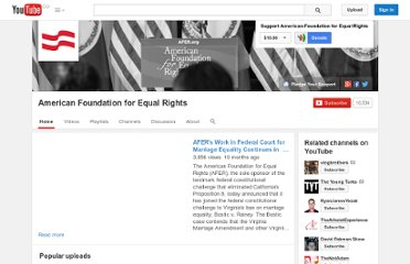 http://www.youtube.com/user/AmericanEqualRights