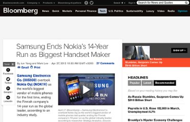 http://www.bloomberg.com/news/2012-04-27/samsung-overtakes-nokia-as-world-s-biggest-phone-vendor.html