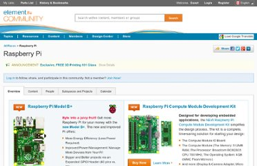 http://www.element14.com/community/groups/raspberry-pi?ICID=hp_raspberry