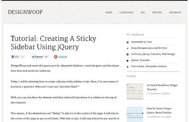 http://designwoop.com/2011/09/tutorial-creating-a-sticky-sidebar-using-jquery/