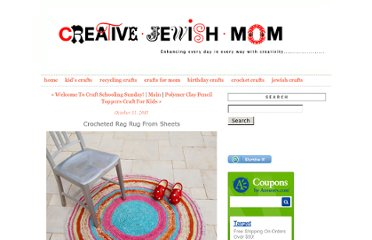 http://www.creativejewishmom.com/2011/10/crocheted-rag-rug-from-sheets.html