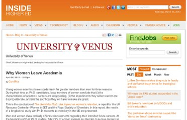 http://www.insidehighered.com/blogs/university-venus/why-women-leave-academia#.T5r8DLLwxDU.twitter