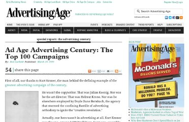 http://adage.com/article/special-report-the-advertising-century/ad-age-advertising-century-top-100-campaigns/140918/