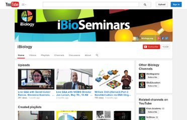 http://www.youtube.com/user/ibioseminars
