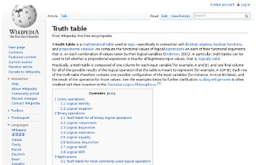 http://en.wikipedia.org/wiki/Truth_table