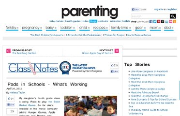 http://www.parenting.com/blogs/mom-congress/ipads-schools-whats-working
