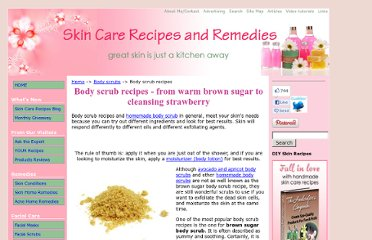 http://www.skin-care-recipes-and-remedies.com/body-scrub-recipes.html