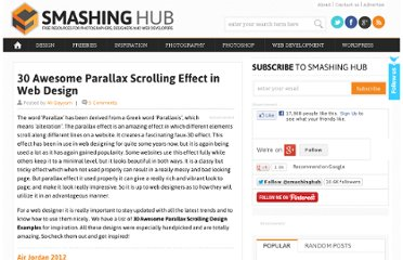 http://smashinghub.com/30-awesome-parallax-scrolling-effect-in-web-design.htm