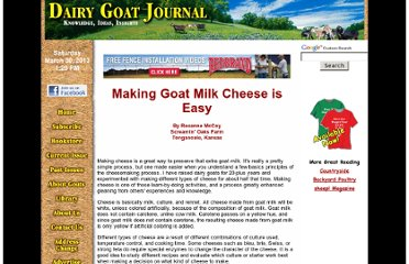 http://www.dairygoatjournal.com/issues/86/86-5/making_goat_milk_cheese_is_easy.html