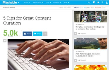 http://mashable.com/2012/04/27/tips-great-content-curation/
