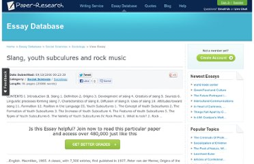 http://www.paper-research.com/paper/Slang-youth-subculures-and-rock-music-185752.html