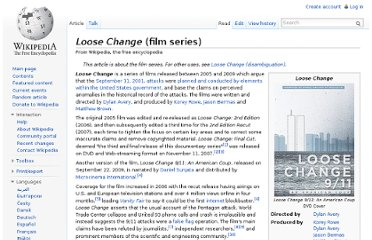 http://en.wikipedia.org/wiki/Loose_Change_(film_series)