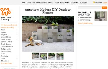 http://www.apartmenttherapy.com/modern-diy-outdoor-planter-93540