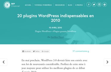 http://wpchannel.com/20-plugins-wordpress-indispensables-2010/