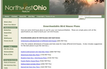 http://www.ohio-nature.com/bird-house-plans.html
