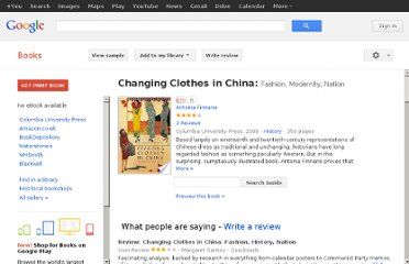 http://books.google.co.uk/books/about/Changing_Clothes_in_China.html?id=Ju3N4VeiQ28C#v=onepage&q=cultural%20revolution%20fashion&f=false