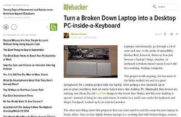 http://lifehacker.com/5617226/turn-a-broken-down-laptop-into-a-desktop-pc+inside+a+keyboard