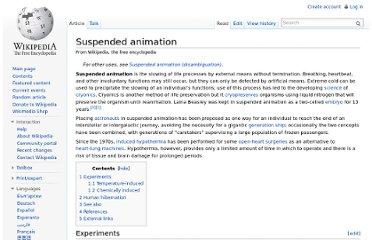 http://en.wikipedia.org/wiki/Suspended_animation