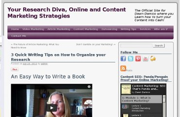 http://www.yourresearchdiva.com/3-quick-writing-tips-on-how-to-organize-your-research/