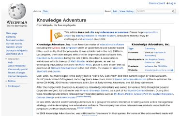 http://en.wikipedia.org/wiki/Knowledge_Adventure
