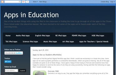 http://appsineducation.blogspot.com/2012/04/apps-to-use-as-student-eportfolios.html